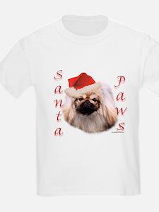 Santa Paws Pekingese Kids T-Shirt