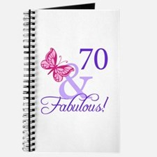 70 And Fabulous Journal