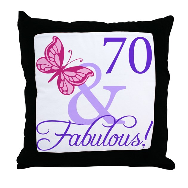 Fab At 70: 70 And Fabulous Throw Pillow By Thebirthdayhill