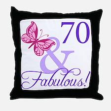 70 And Fabulous Throw Pillow