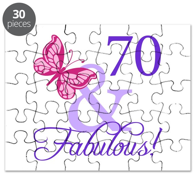 Fab At 70: 70 And Fabulous Puzzle By Thebirthdayhill