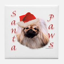 Santa Paws Pekingese Tile Coaster