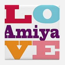 I Love Amiya Tile Coaster