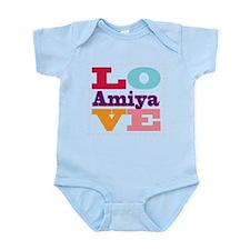 I Love Amiya Infant Bodysuit
