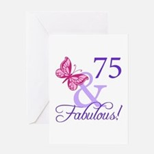 75 And Fabulous Greeting Card