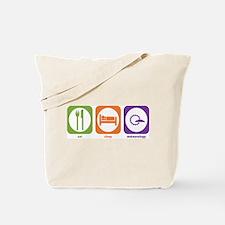 Eat Sleep Meteorology Tote Bag