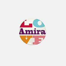 I Love Amira Mini Button