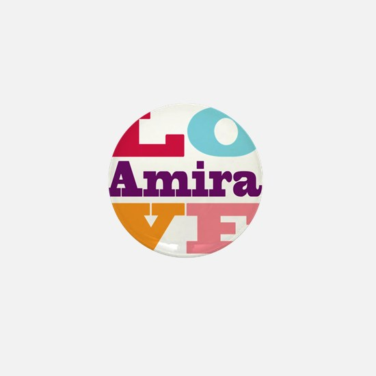 I Love Amira Mini Button