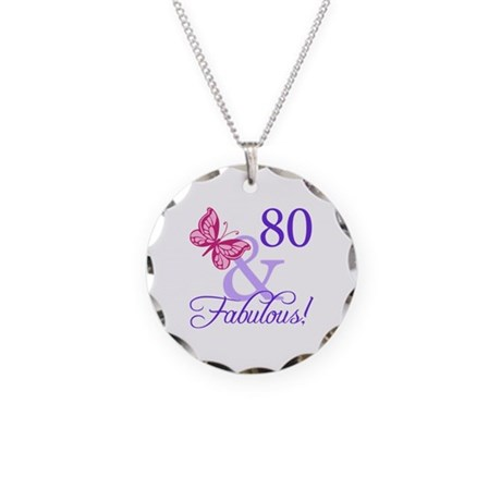 80 And Fabulous Necklace Circle Charm