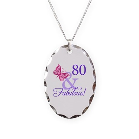 80 And Fabulous Necklace Oval Charm