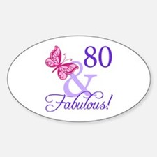 80 And Fabulous Decal