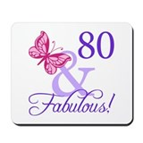 80th birthday Mouse Pads