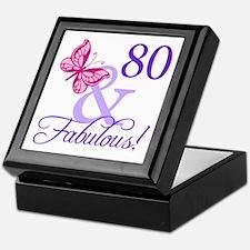 80 And Fabulous Keepsake Box