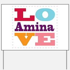 I Love Amina Yard Sign