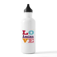 I Love Amina Water Bottle