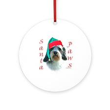 Santa Paws PBGV Ornament (Round)