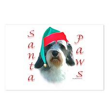 Santa Paws PBGV Postcards (Package of 8)
