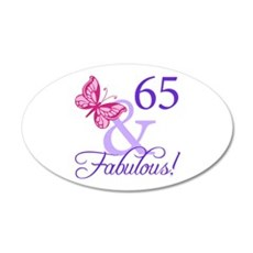 65 And Fabulous Wall Decal