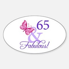 65 And Fabulous Decal