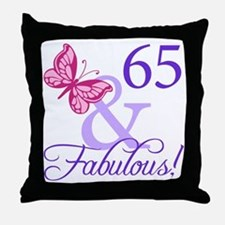 65 And Fabulous Throw Pillow