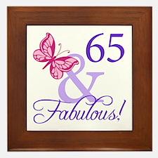 65 And Fabulous Framed Tile