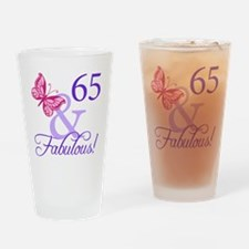 65 And Fabulous Drinking Glass