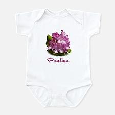 Paulina: Purpe Flower Infant Bodysuit