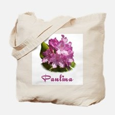 Paulina: Purpe Flower Tote Bag