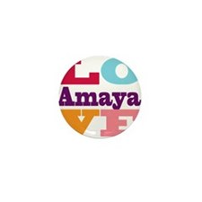 I Love Amaya Mini Button