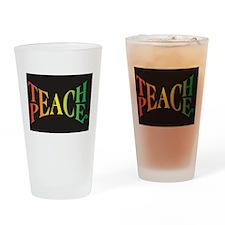 Teach Peace Drinking Glass