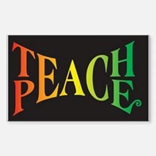 Teach Peace Decal