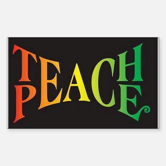 Teach Peace Sticker (Rectangle)