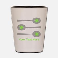 Spoons, Green Custom Text. Shot Glass