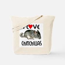 I Love Chinchillas Tote Bag