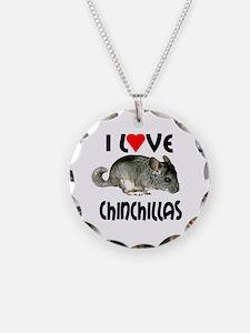 I Love Chinchillas Necklace
