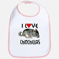 I Love Chinchillas Bib