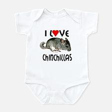 I Love Chinchillas Infant Bodysuit