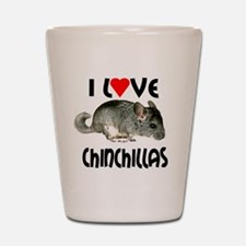 I Love Chinchillas Shot Glass