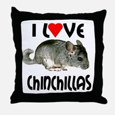 I Love Chinchillas Throw Pillow