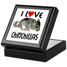 I Love Chinchillas Keepsake Box