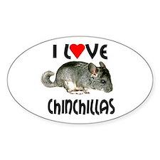 I Love Chinchillas Decal