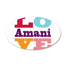 I Love Amani 20x12 Oval Wall Decal