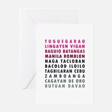 Philippine Cities Pink Greeting Cards (Pk of 20)