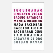 Philippine Cities Pink Postcards (Package of 8)