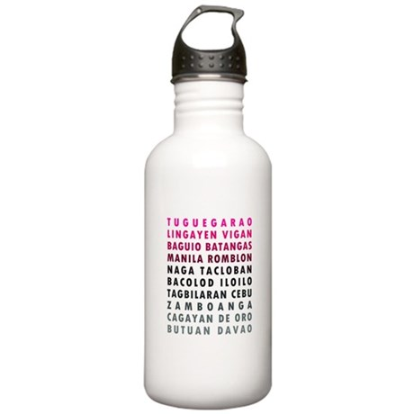 Philippine Cities Pink Stainless Water Bottle 1.0L