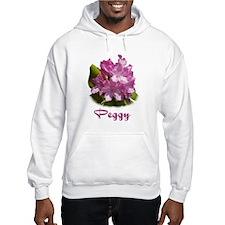 Peggy: Purple Flower Hoodie