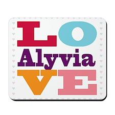 I Love Alyvia Mousepad