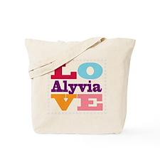 I Love Alyvia Tote Bag