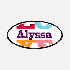 I Love Alyssa Patches