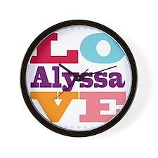I Love Alyssa Wall Clock